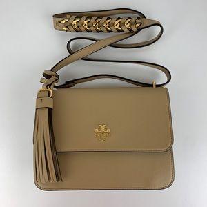 New Tory Burch Brooke Leather Shoulder Bag